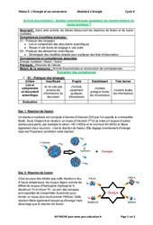 Quelles caractéristiques possèdent les transformations du noyau atomique? - Activité documentaire avec les corrections : 3eme Secondaire