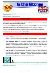 In the kitchen - Anglais - Lexique - Séquence complète : 2eme, 3eme Primaire