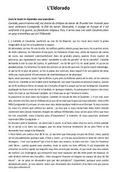 L'Eldorado - Récit - Lecture : 1ere Secondaire