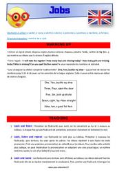 Jobs - Anglais - Lexique - Séquence complète : 2eme, 3eme Primaire