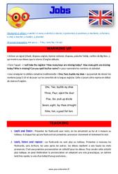 Jobs - Anglais - Lexique - Séquence complète : 4eme, 5eme Primaire