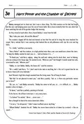 Harry Potter - Lecture compréhension en anglais : 3eme Secondaire