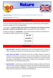 Nature - Anglais - Lexique - Séquence complète : 2eme, 3eme Primaire