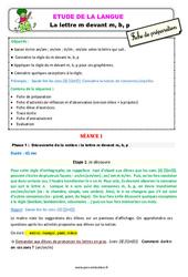 La lettre m devant m, b, p - Étude de la langue - Fiche de préparation : 2eme Primaire