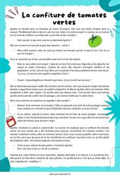 La confiture de tomates vertes - Récit - Lecture : 3eme Primaire
