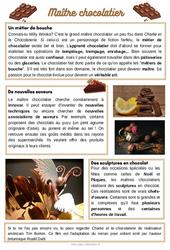 Maître chocolatier - Lecture documentaire : 2eme, 3eme, 4eme Primaire