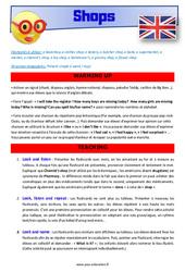 Shops - Anglais - Lexique - Séquence complète : 4eme, 5eme Primaire