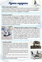 Les pigeons - Lecture thématique : 2eme, 3eme, 4eme Primaire
