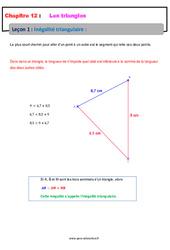 Inégalité triangulaire - Cours : 1ere Secondaire