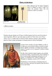 Clovis, roi des francs - Exercices - Moyen âge - : 3eme, 4eme Primaire