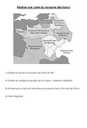 Royaume des francs - Exercices - Moyen âge - : 3eme, 4eme Primaire