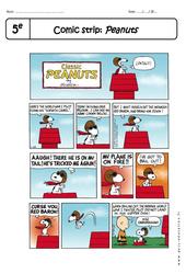 Comic strip- Fiches Peanuts - Lecture compréhension en anglais : 1ere Secondaire
