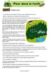 Peur dans la forêt - Récit - Lecture : 2eme, 3eme Primaire