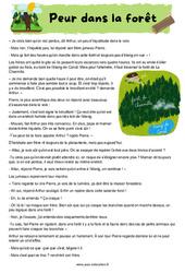 Peur dans la forêt - Récit - Lecture : 4eme, 5eme Primaire