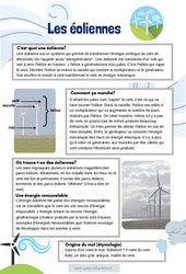 Les éoliennes - Lecture documentaire : 4eme, 5eme Primaire