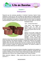L'île de Zaratan - Récit - Lecture : 4eme, 5eme Primaire