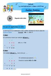 La multiplication à deux chiffres - Soutien scolaire pour les élèves en difficulté. : 5eme Primaire