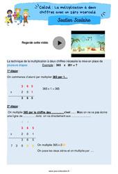 La multiplication à deux chiffres avec un zéro intercalé - Soutien scolaire pour les élèves en difficulté. : 5eme Primaire