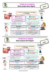 Sens propre - sens figuré - Étude de la langue - Cours, Leçon : 3eme Primaire