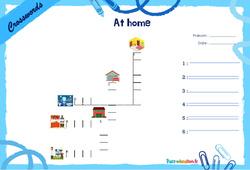 At home - Mots fléchés - Lexique / vocabulaire - Crosswords : 2eme, 3eme Primaire
