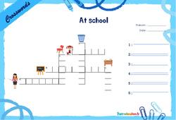 At school - Mots fléchés - Lexique / vocabulaire - Crosswords : 2eme, 3eme Primaire