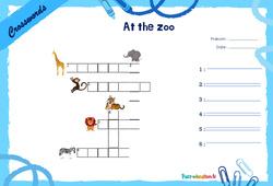 At the zoo - Mots fléchés - Lexique / vocabulaire - Crosswords : 2eme, 3eme Primaire