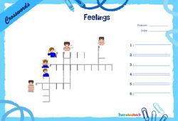Feelings - Mots fléchés - Lexique / vocabulaire - Crosswords : 2eme, 3eme Primaire
