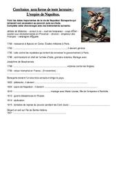Document - Questions - Empire de Napoléon - Exercices - Les Temps Modernes - Questionnaire : 4eme, 5eme Primaire