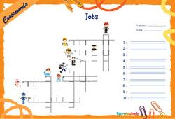 Jobs - Mots fléchés - Lexique / vocabulaire - Crosswords : 4eme, 5eme Primaire