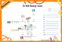 In the living room - Mots fléchés - Lexique / vocabulaire - Crosswords : 4eme, 5eme Primaire