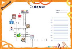 In the town - Mots fléchés - Lexique / vocabulaire - Crosswords : 4eme, 5eme Primaire