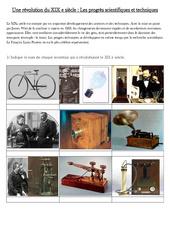 Les progrès scientifiques et techniques  du XIX e siècle - La révolution industrielle - Fiches Exercices : 5eme Primaire