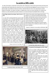 La société au XIX e siècle - La révolution industrielle - XIX ème siècle - Exercices : 5eme Primaire