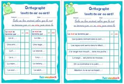 Les mots en oir ou oire - Rituels - Orthographe : 2eme, 3eme Primaire