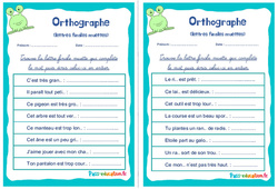 Les lettres finales muettes - Rituels - Orthographe : 2eme, 3eme Primaire