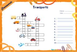 Means of transport - Mots fléchés - Lexique / vocabulaire - Crosswords : 4eme, 5eme Primaire