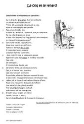Le coq et le renard - Lecture - Fable - Récit : 6eme Primaire
