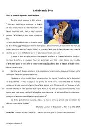 La Belle et la Bête - Lecture - Conte : 6eme Primaire
