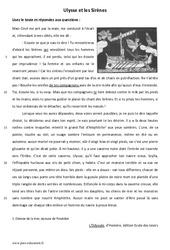 Ulysse et les Sirènes - Lecture - L'Odyssée - Mythes : 6eme Primaire