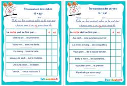 Terminaisons des verbes (é - ez) - Rituels - Conjugaison : 2eme, 3eme Primaire