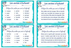 Les verbes à l'infinitif - Rituels - Conjugaison : 2eme, 3eme Primaire