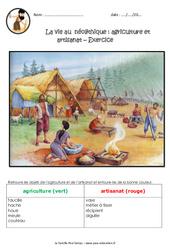 La vie des hommes au néolithique - Exercices : 3eme, 4eme Primaire