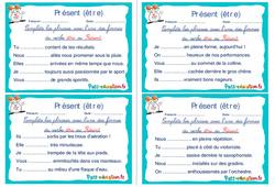 Présent (être) - Rituels - Conjugaison : 2eme, 3eme Primaire