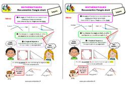 Reconnaître l'angle droit - Cours, Leçon : 2eme Primaire