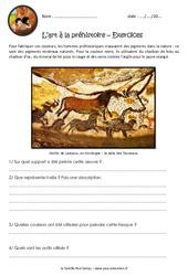 L'art à la préhistoire - Exercices : 3eme Primaire