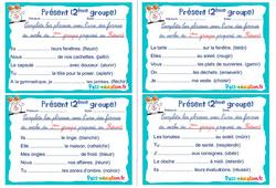 Présent (2ème groupe) - Rituels - Conjugaison : 2eme, 3eme Primaire