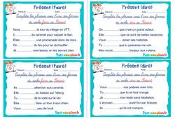 Présent (faire et dire) - Rituels - Conjugaison : 2eme, 3eme Primaire