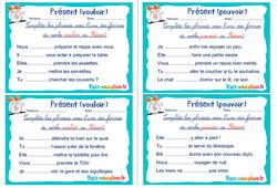 Présent (vouloir et pouvoir) - Rituels - Conjugaison : 2eme, 3eme Primaire