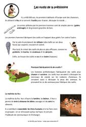 Outils de la préhistoire - Maîtrise du feu - Cours, Leçon : 3eme, 4eme Primaire