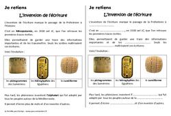 Invention de l'écriture - Cours, Leçon - Antiquité : 3eme Primaire